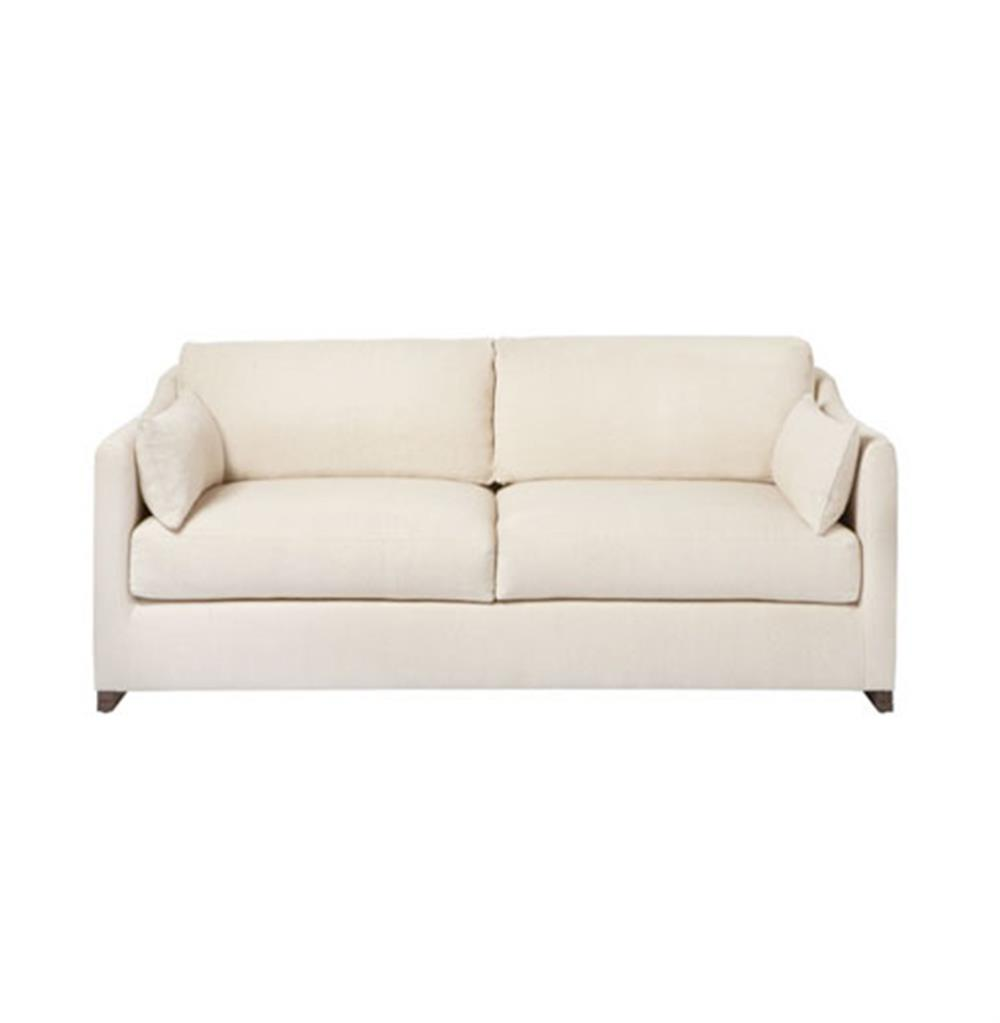 Dexter wide classic natural feather down condo sofa 72 for Wide couches