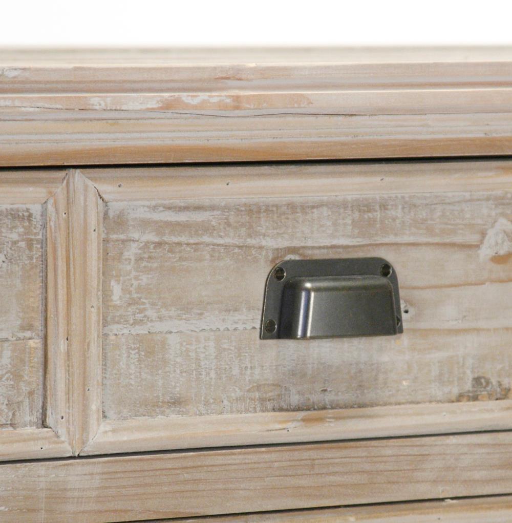 Sideboard Beige rupert industrial loft white washed reclaimed oak sideboard