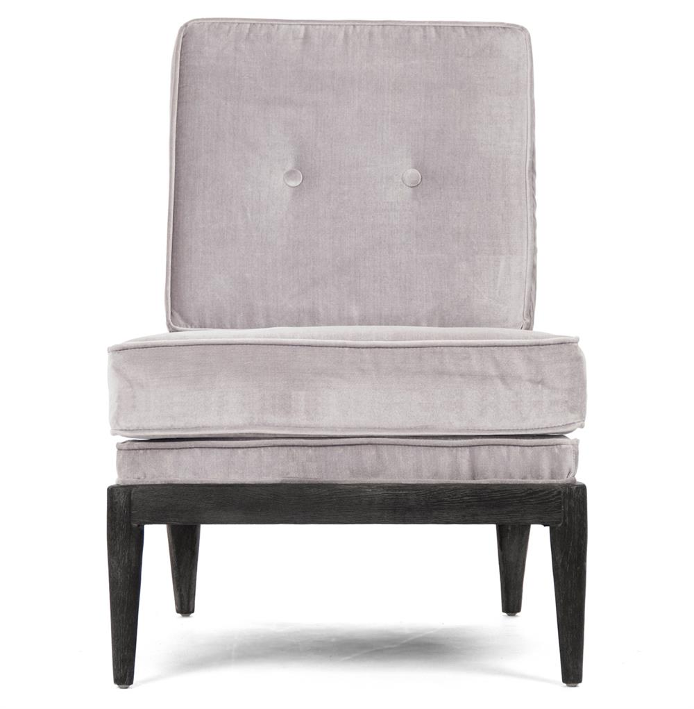 ... Grey Velvet Accent Chair | Kathy Kuo Home. View Full Size ...