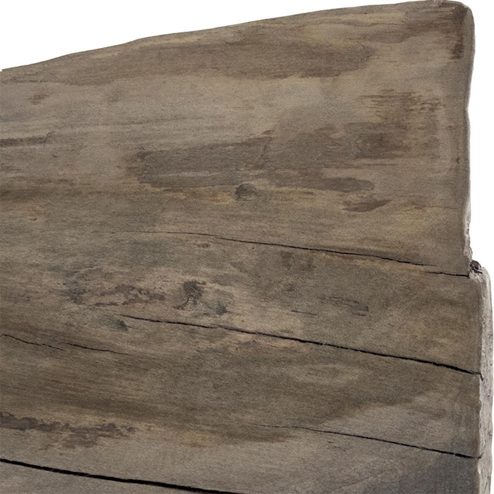 Boulder Reclaimed Wood Heavy Iron Rustic Slab Long Bench
