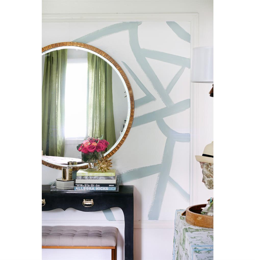 Yorkville Hollywood Regency Large Thin Round Wall Mirror Kathy Kuo Home