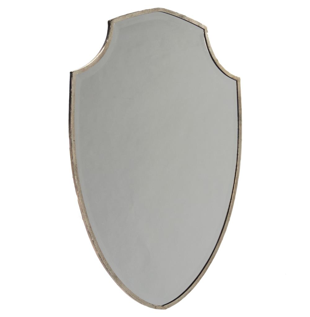 French country bathroom vanity - Haverford Shield Masculine Rust Frame Wall Mirror Kathy Kuo Home