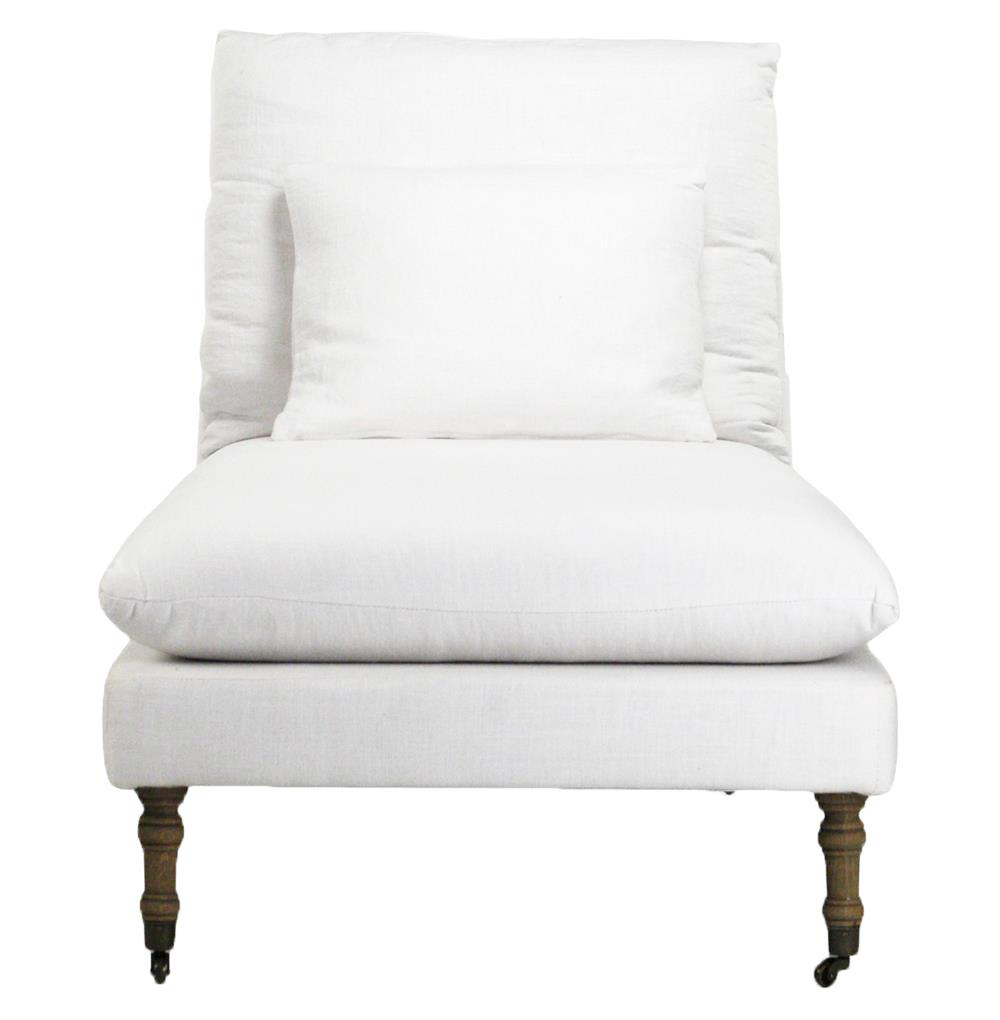 Maison blanche white cotton coastal beach chaise lounge for Chaise lounge covers cotton