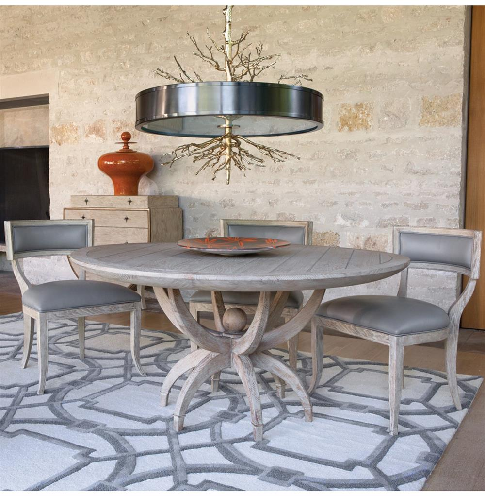 Circular Dining Room Table: Atticus Coastal Beach White Oak Contemporary Round Dining