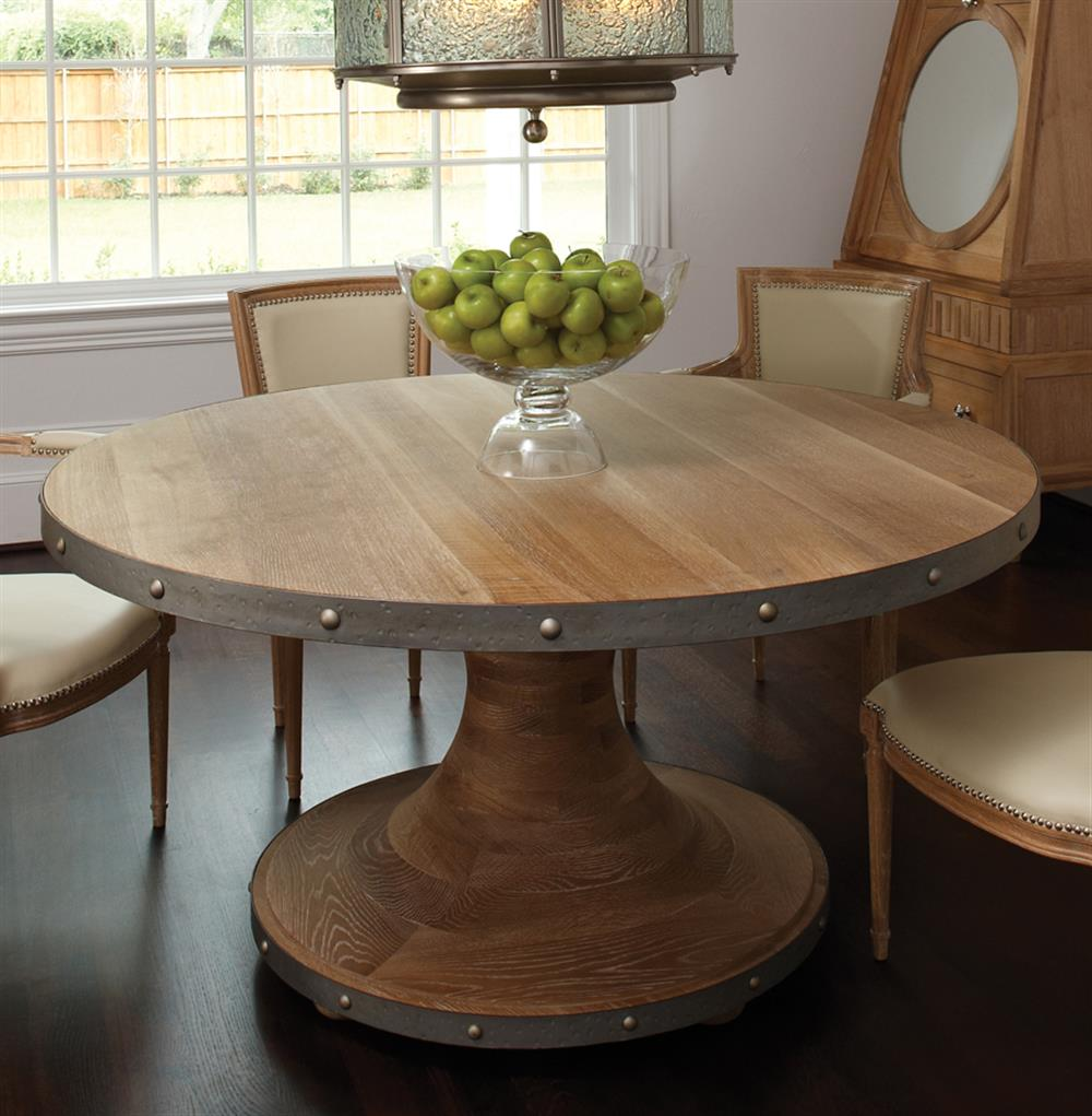 Industrial Style Dining Room Tables: Pearson Industrial Loft Style Pedestal Base Round Dining Table