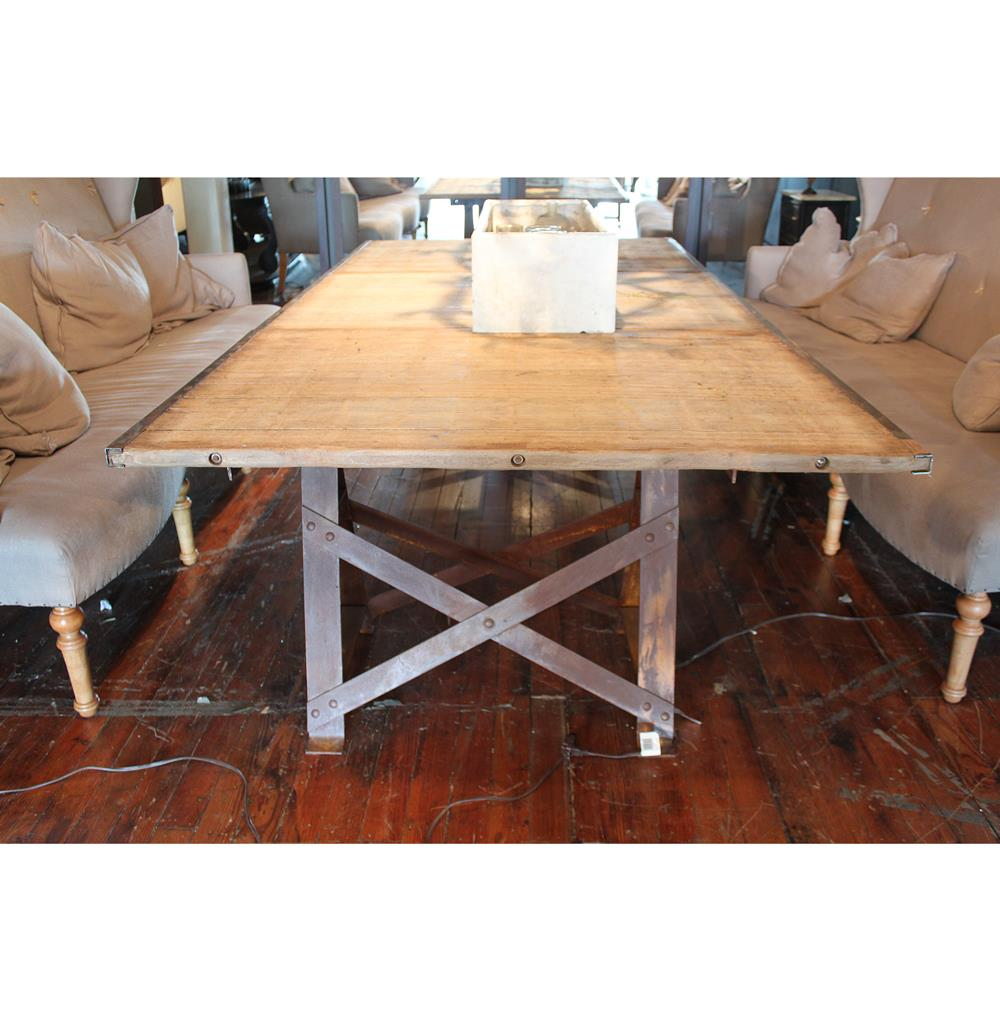 Extra Large Dining Room Table: Frinier Industrial Loft Iron Reclaimed Wood Extra Large