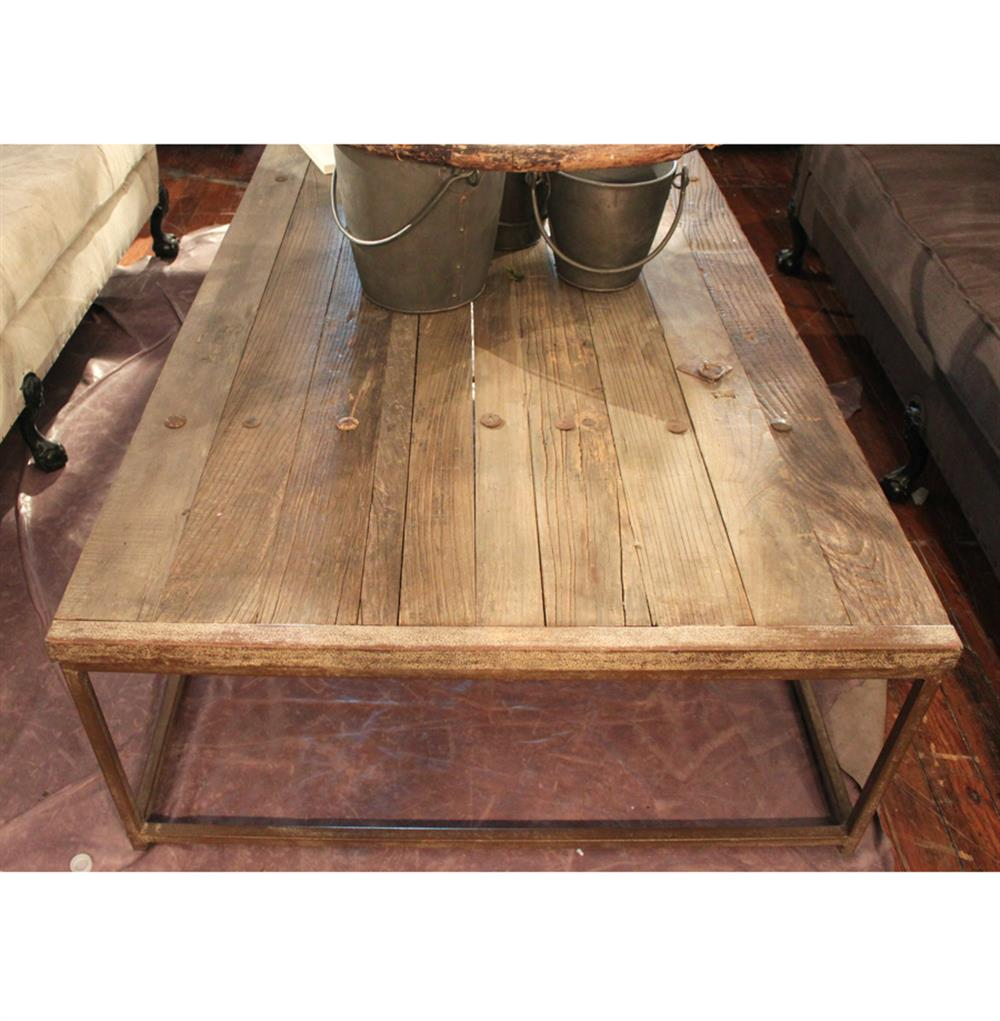 Rustic Wood And Mirror Coffee Table: Thayer Rustic Lodge Reclaimed Elm Wood Coffee Table