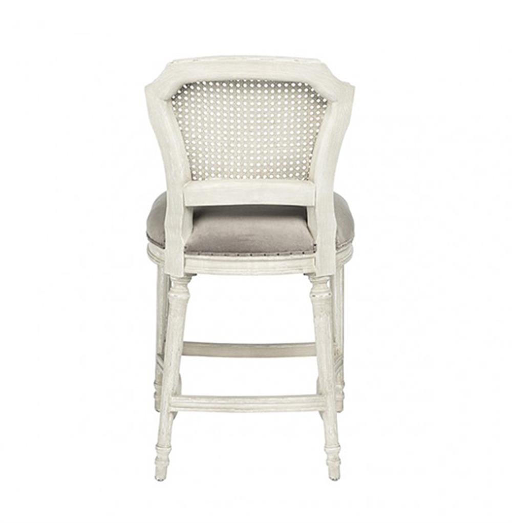 Camilla French Country White Grey Velvet Counter Stool  : product66392 from www.kathykuohome.com size 1000 x 1021 jpeg 42kB