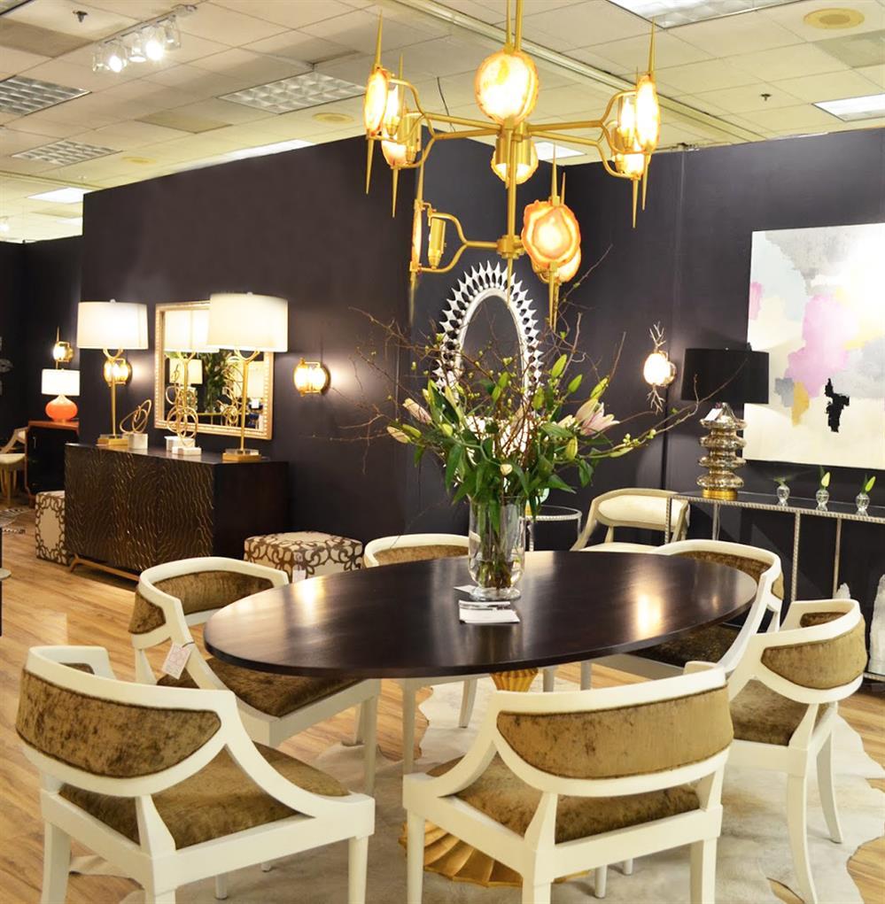 gold fluted base walnut hollywood regency oval dining table. Black Bedroom Furniture Sets. Home Design Ideas