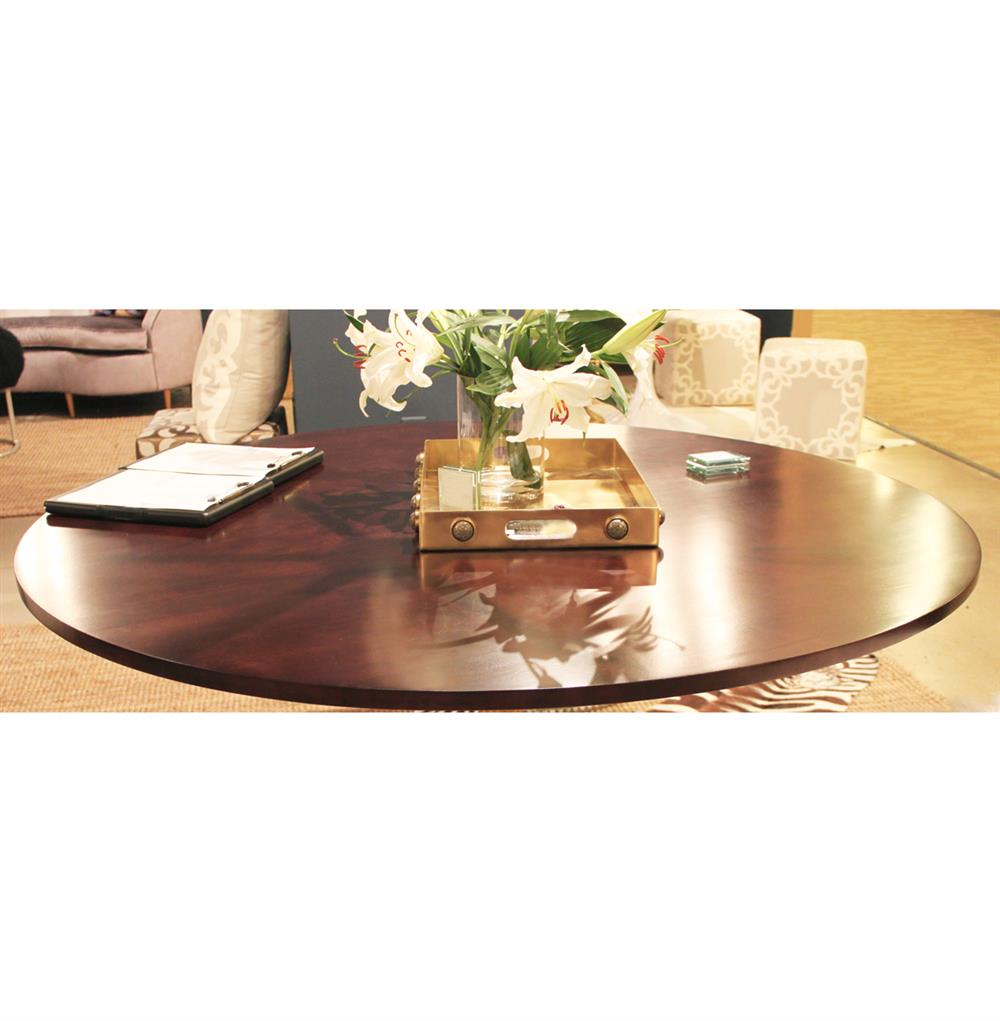 Tables silver fluted base walnut hollywood regency oval dining table