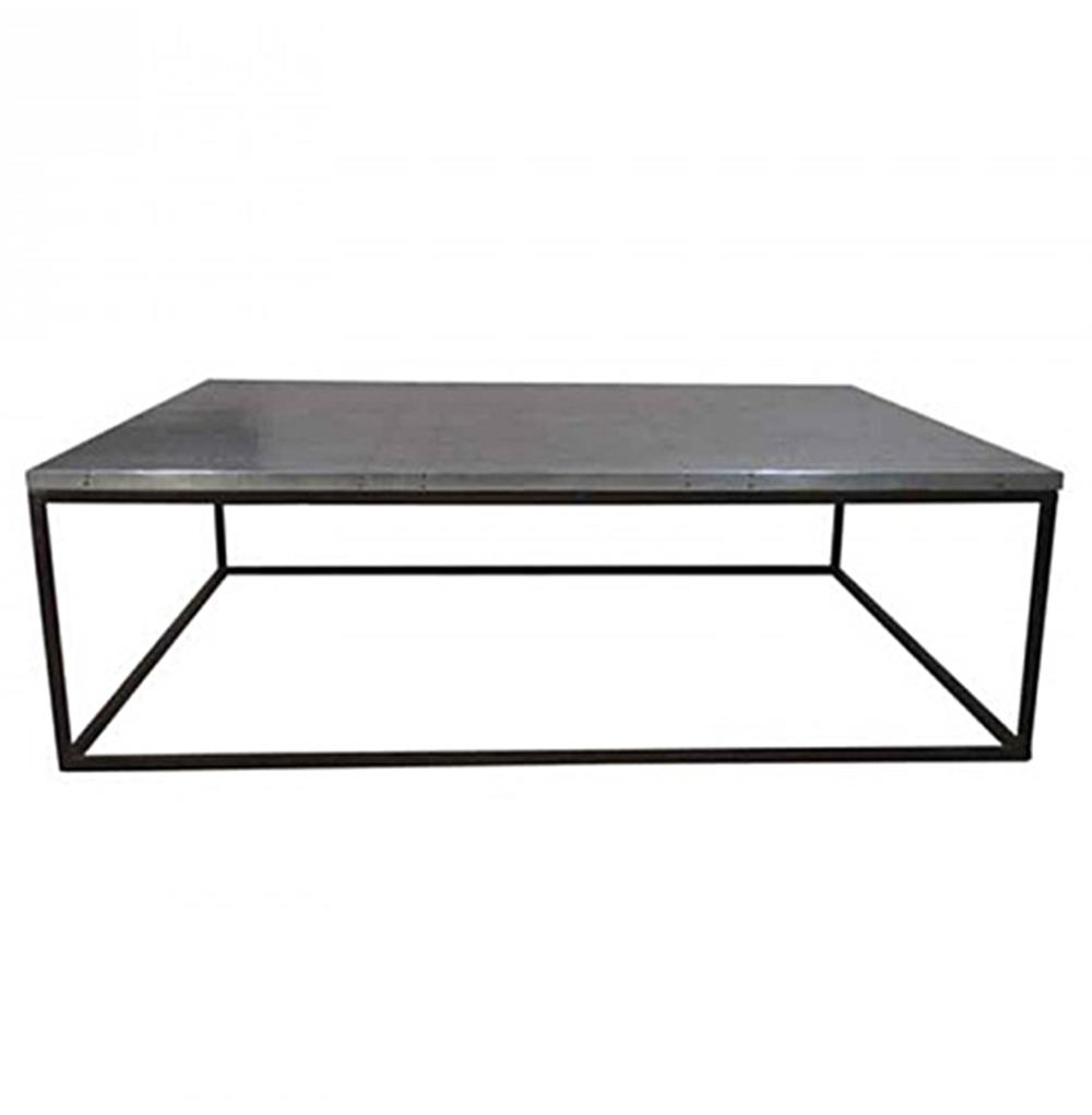 Deon Industrial Style Pattern Metal Rectangle Coffee Table Kathy Kuo Home