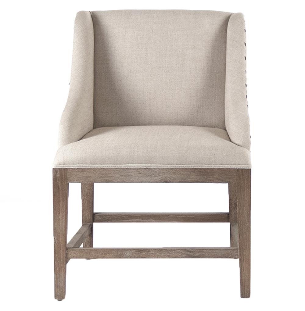 da6b4f527291 Corneille French Country Limed Oak Linen Dining Chair