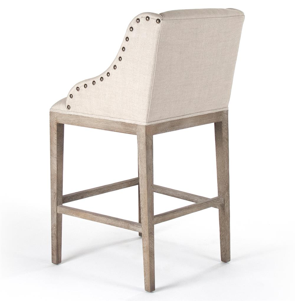 Corneille French Country Limed Oak Linen Counter Stool  : product67592 from www.kathykuohome.com size 1000 x 1022 jpeg 62kB