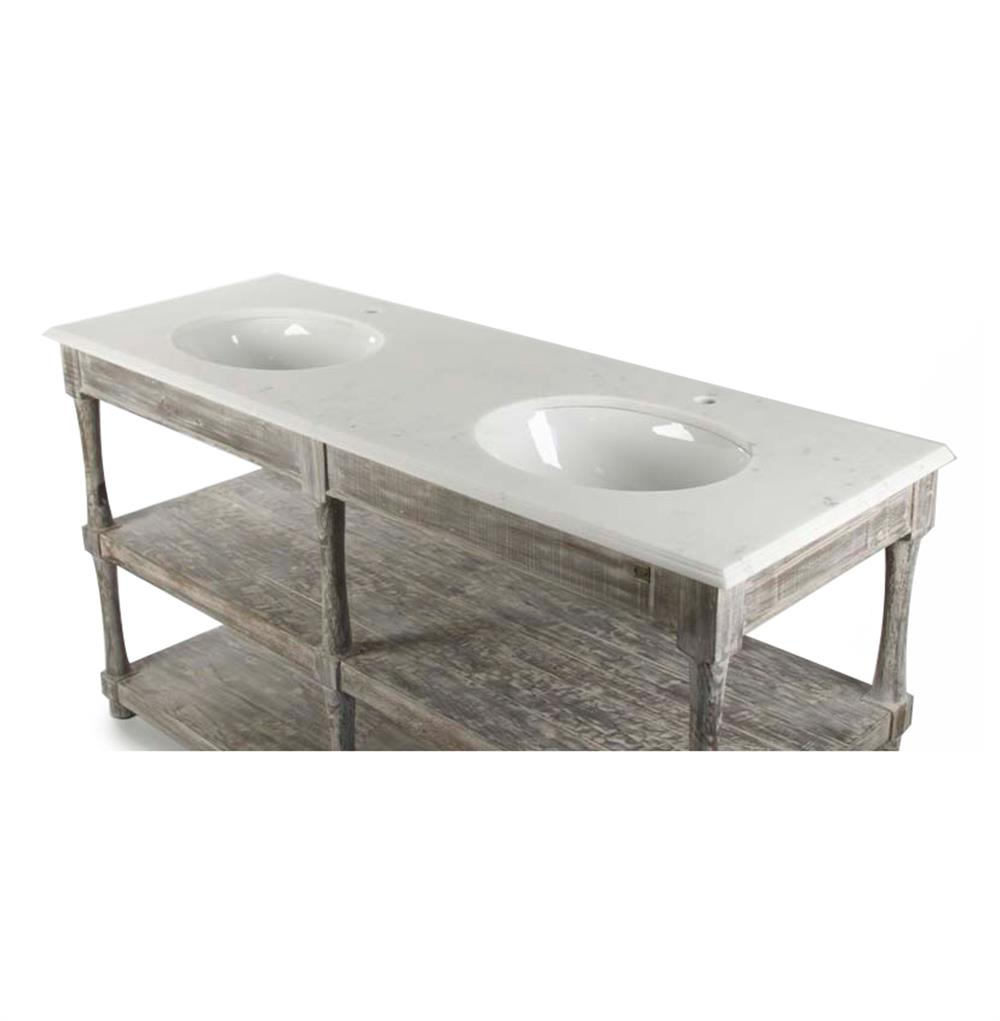 French Country Bathroom Vanities: Dumas French Country White Marble Double Sink Bathroom Vanity