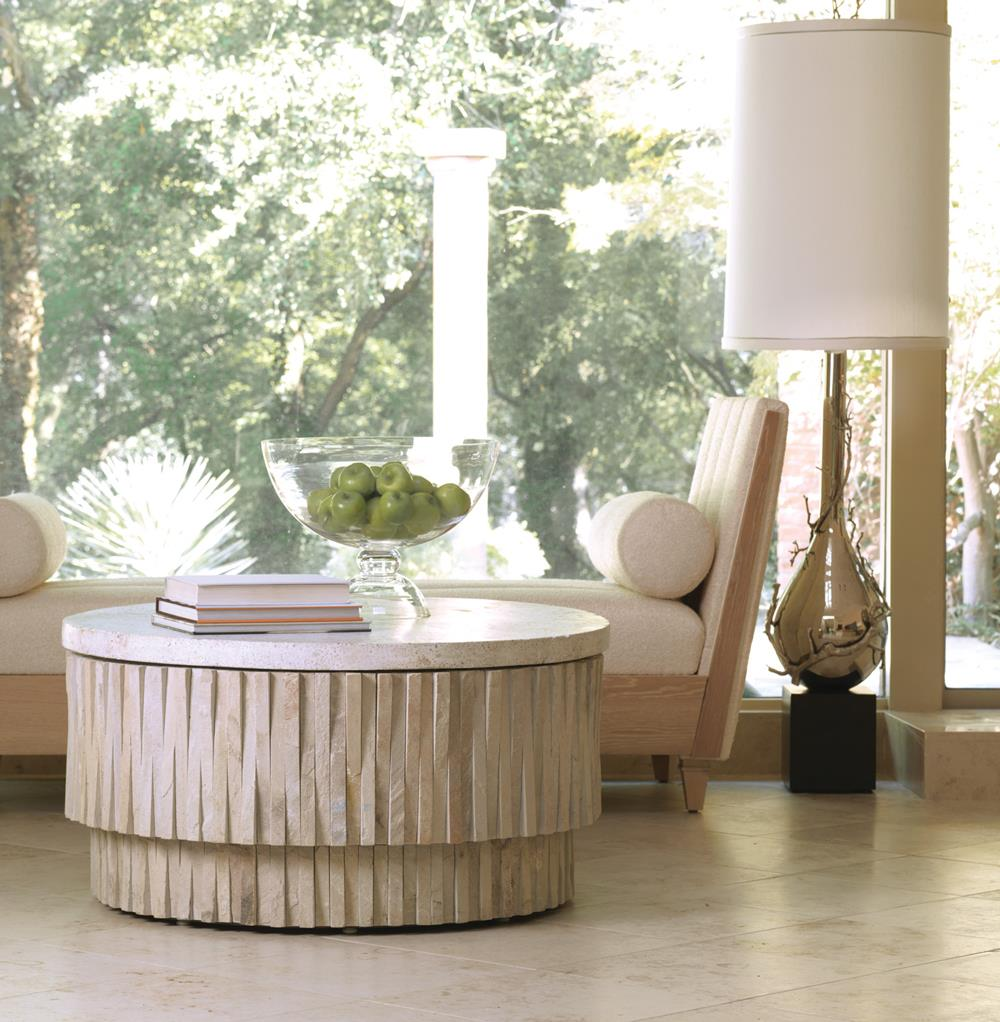 Stone Round Coffee Table Kathy Kuo Home View Full Size