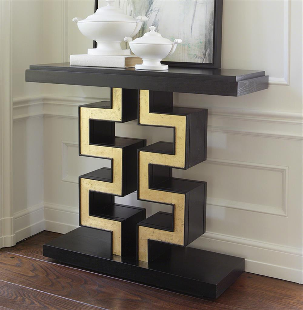 ... Gold Leaf Console Table | Kathy Kuo Home. View Full Size ...