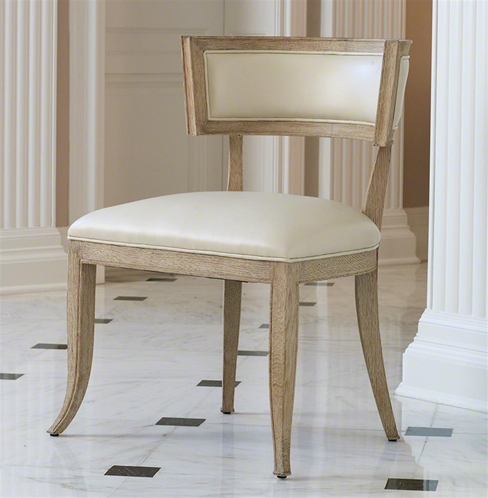 Ivory Leather Dining Room Chairs: Minnelli Hollywood Regency Ivory Leather Dining Chair