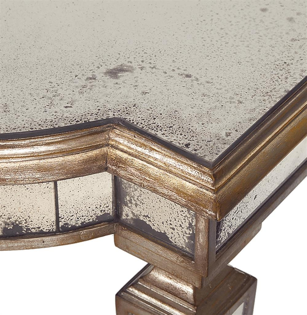 Champagne Mirrored Coffee Table: John-Richard Tempest Hollywood Regency Champagne Antique
