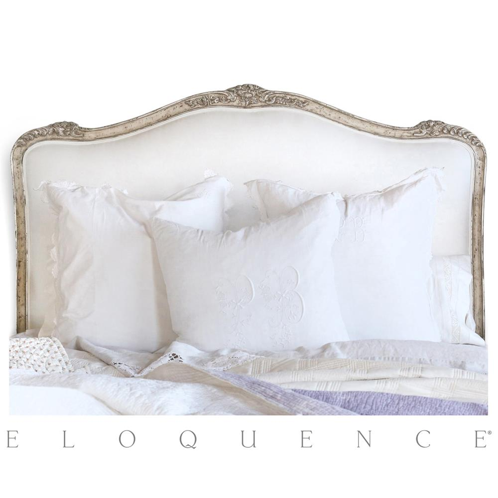 Eloquence 174 Sophia Queen Headboard Silver Antique White Two