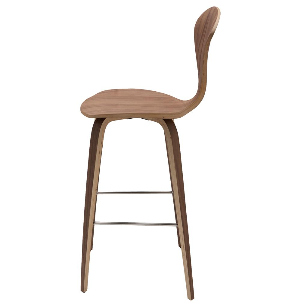 Regan American Natural Walnut Modern Molded Wood Counter Stool | Kathy Kuo Home  sc 1 st  Kathy Kuo Home : natural wood counter stools - islam-shia.org