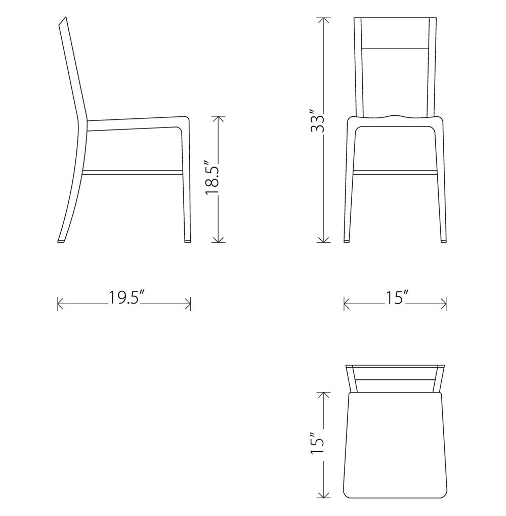 Wooster Industrial Loft Outdoor Safe Aluminum Dining Chair