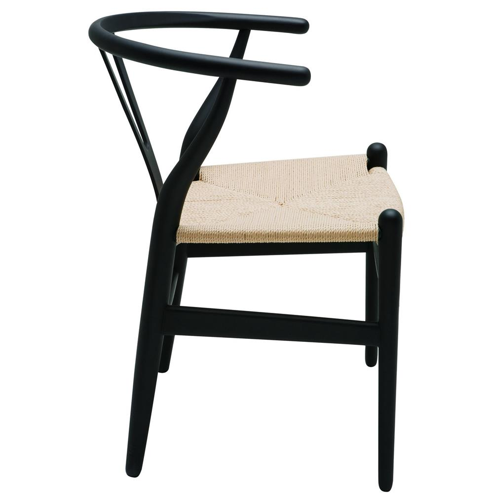 Jace ming modern global bazaar rattan black dining arm chair for Black dining chairs with arms