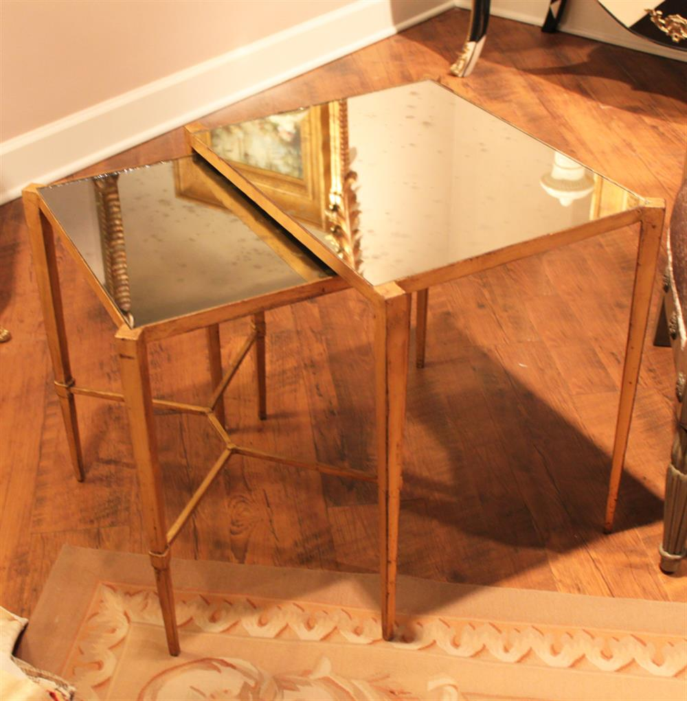 Antique Mirror Nesting Tables Kathy Kuo Home View Full Size