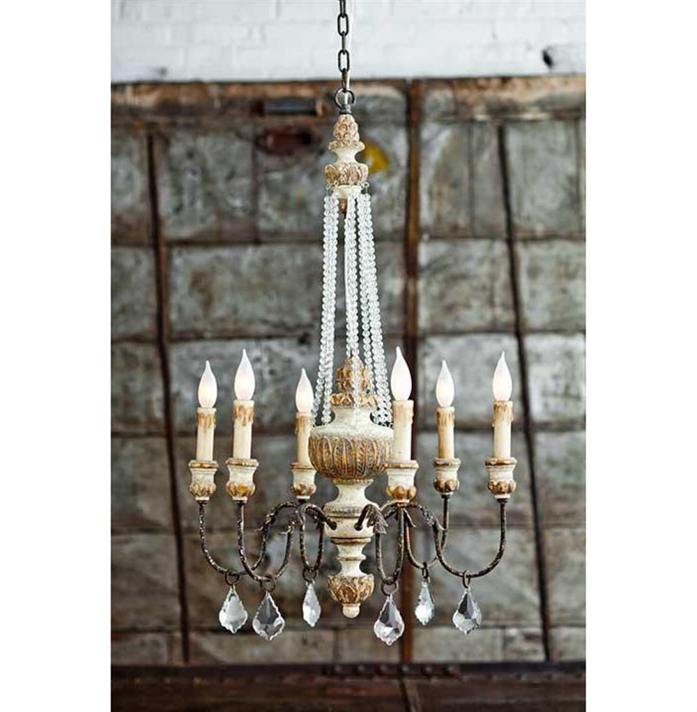 Ronsard french country crystal bead parisian chandelier French country chandelier