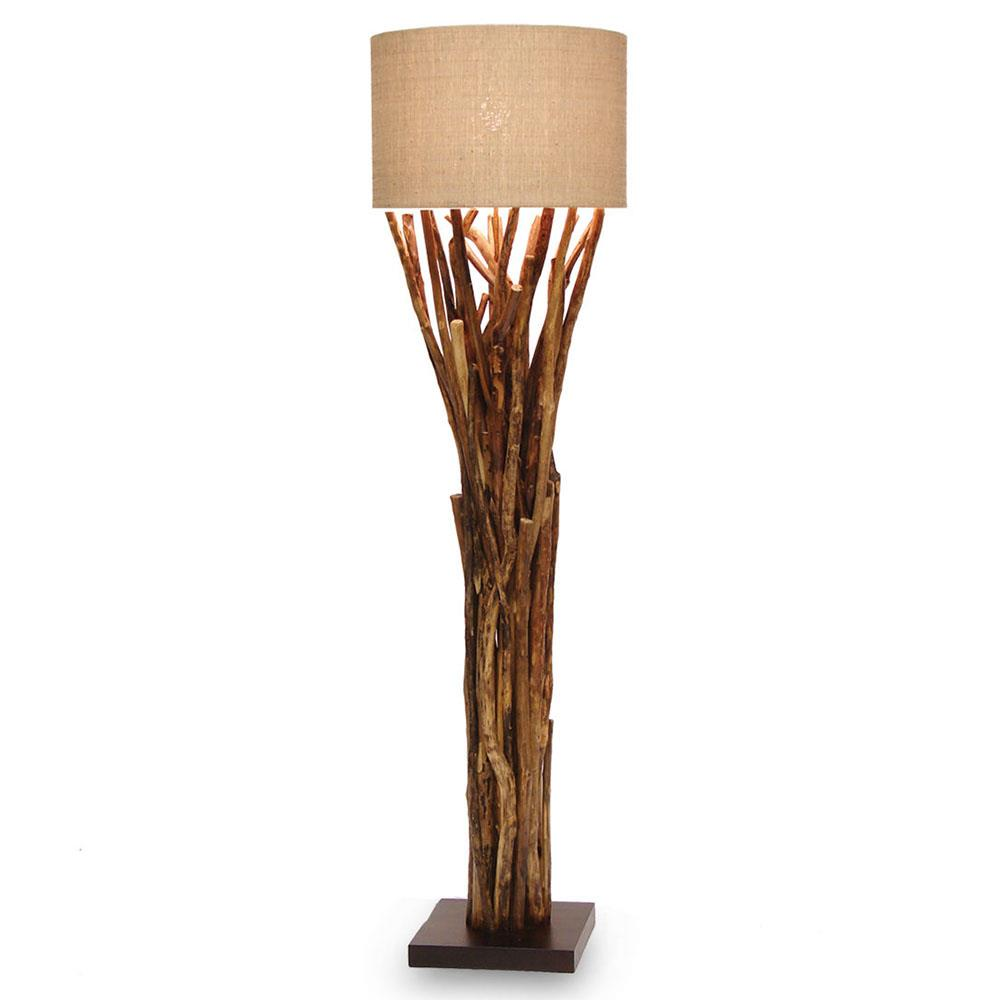 Outdoor modern floor lamp - Lodge Bundled Branches Floor Lamp 20 Inch Shade Kathy Kuo Home