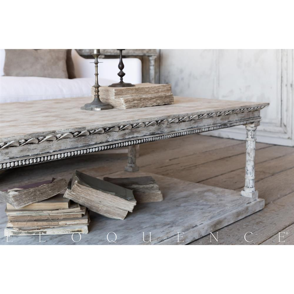 Eloquence Gustav Coffee Table In Oak Driftwood Kathy Kuo Home