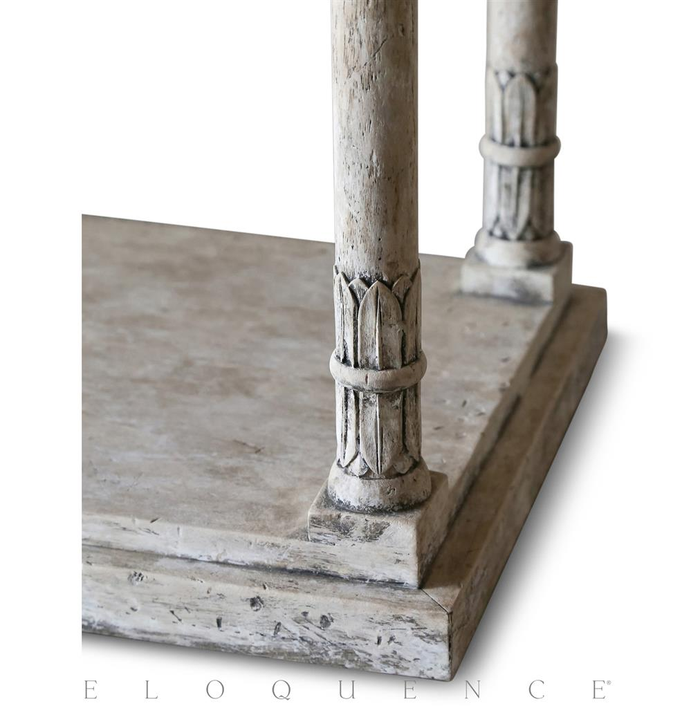 Eloquence gustav console table in oak driftwood kathy kuo home geotapseo Images