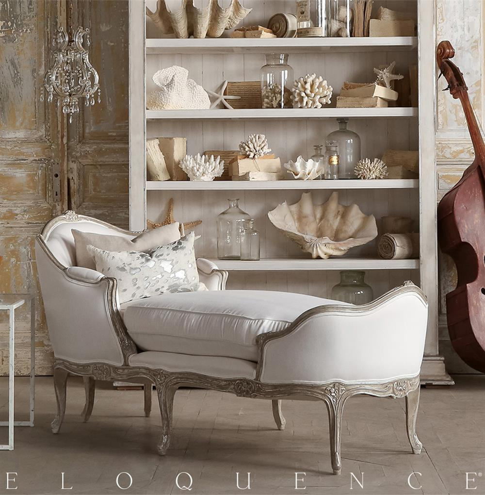 eloquence marie antoinette chaise in silver antique white tone kathy kuo home. Black Bedroom Furniture Sets. Home Design Ideas