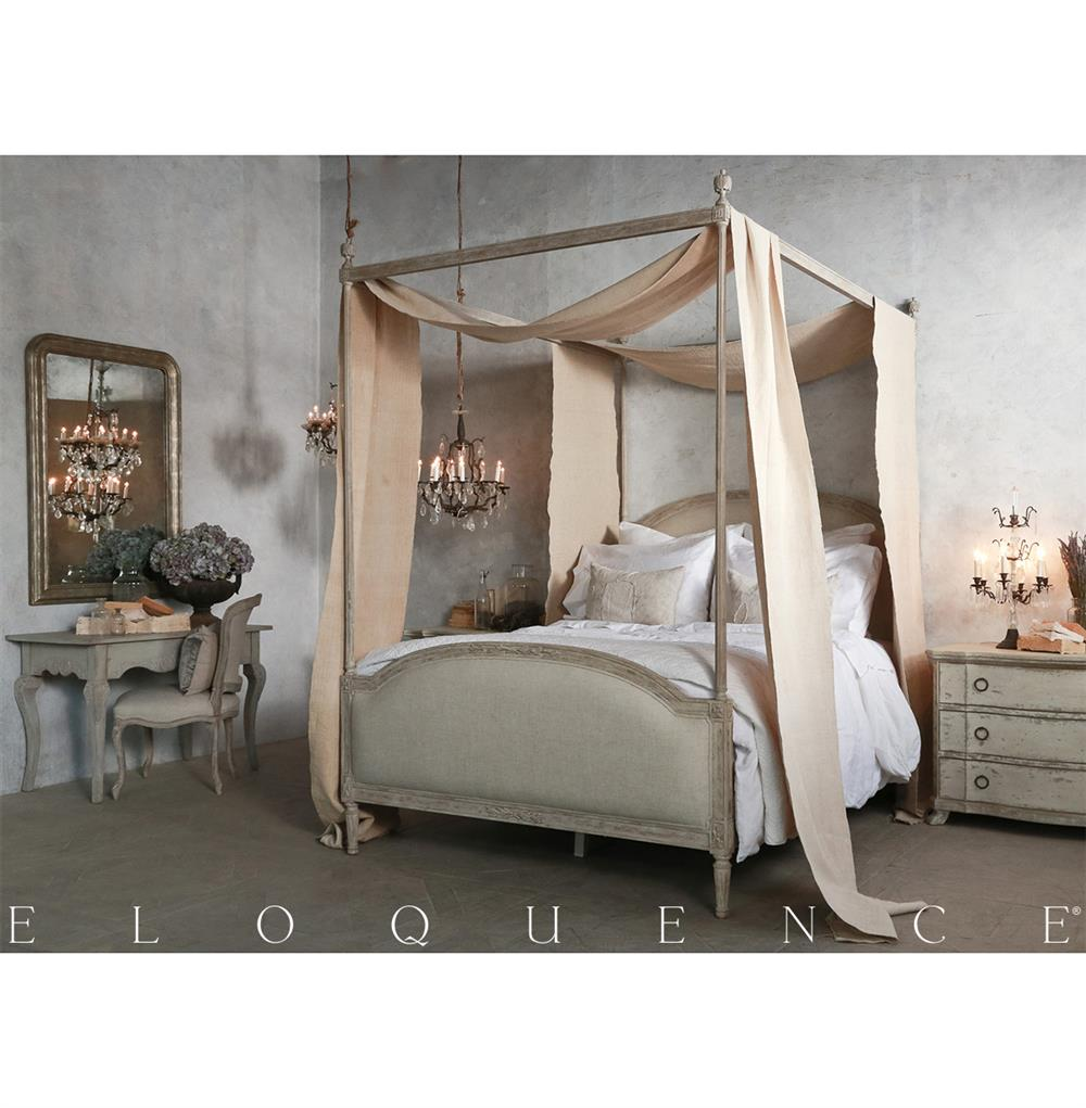 Eloquence Dauphine Queen Canopy Bed In Beach House