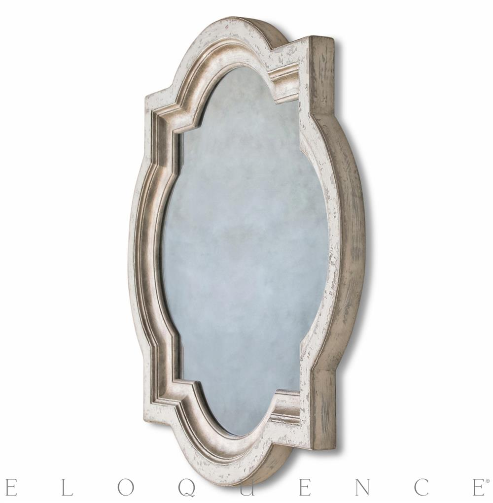 Eloquence Lyon Mirror In Stone And Silver Kathy Kuo Home