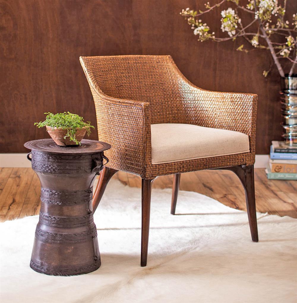 ... Palecek Bronze Rain Global Bazaar Small Bronze Rain Drum Side Table |  Kathy Kuo Home
