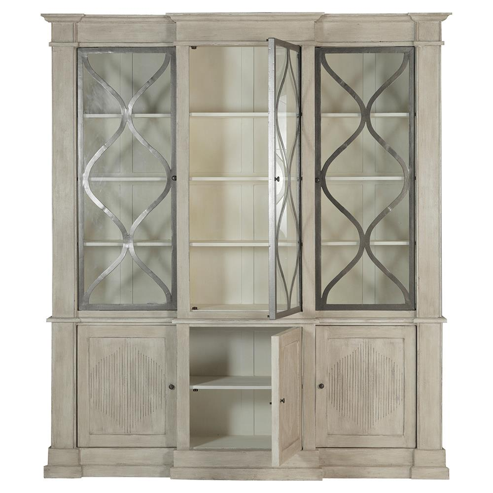 French Glass Kitchen Cabinet Doors: Samantha French Country Wood 3 Door Display Cabinet