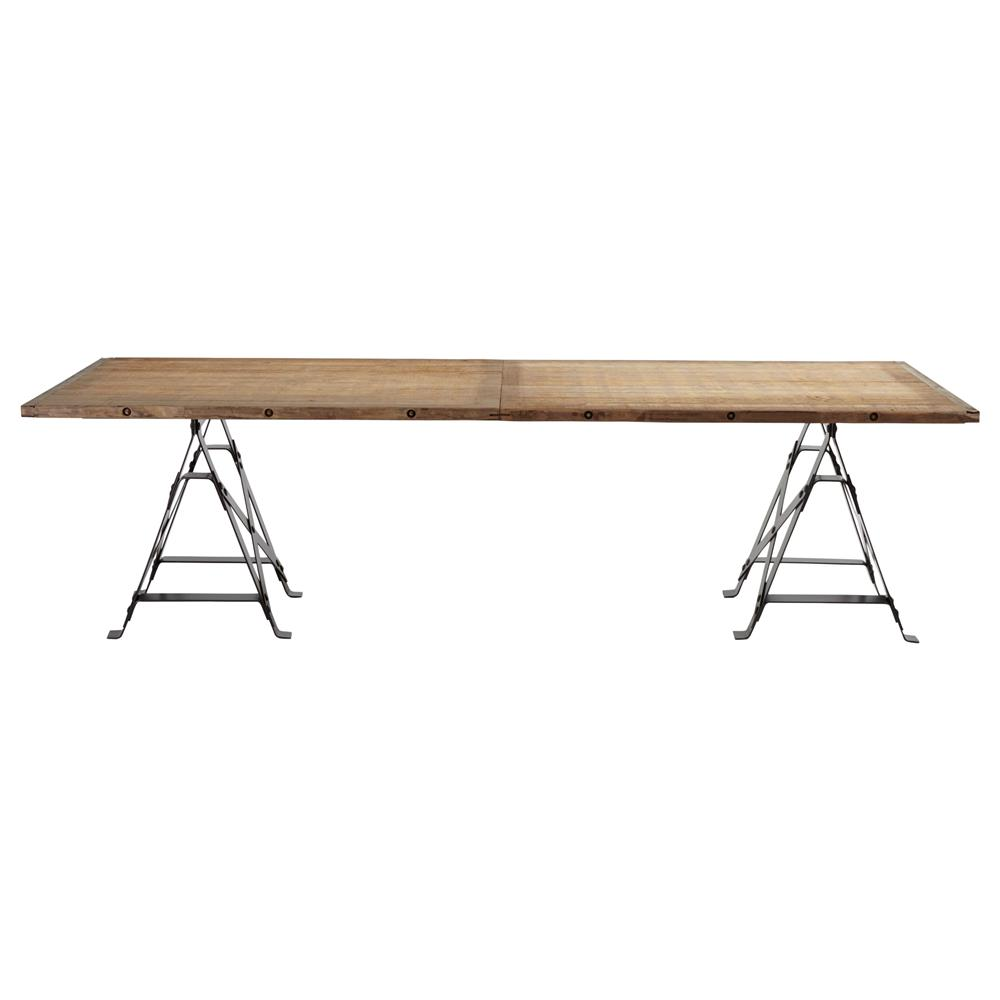 frinier industrial loft iron reclaimed wood large dining