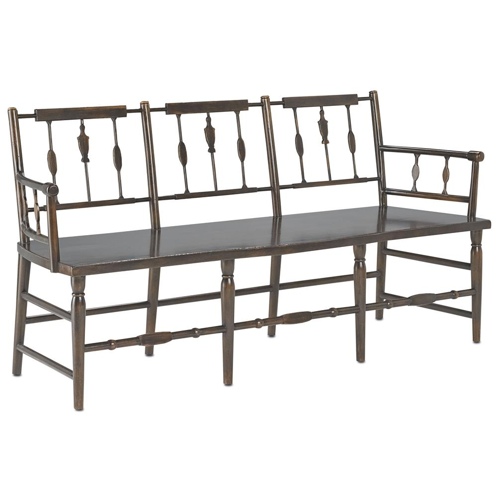 Colonial Charleston 3 Seat Spindle Traditional Bench