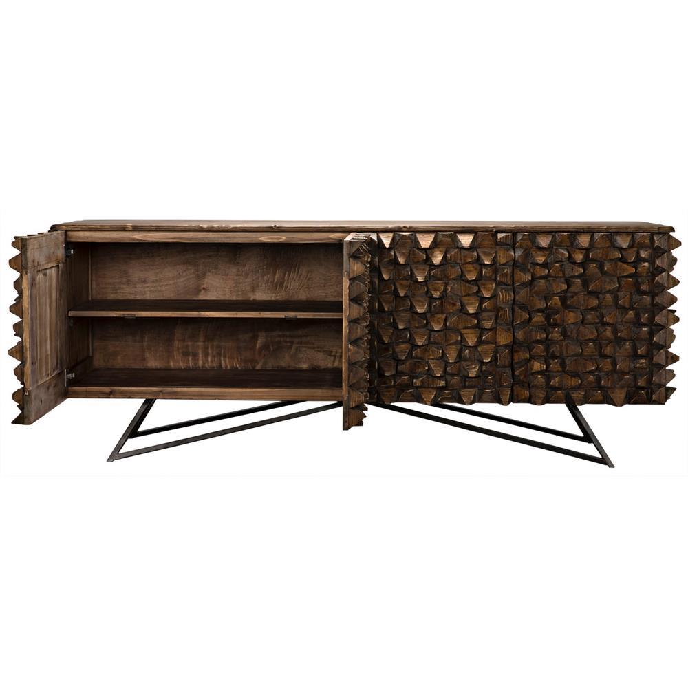 mersin modern rustic reclaimed chunky wood metal sideboard. Black Bedroom Furniture Sets. Home Design Ideas