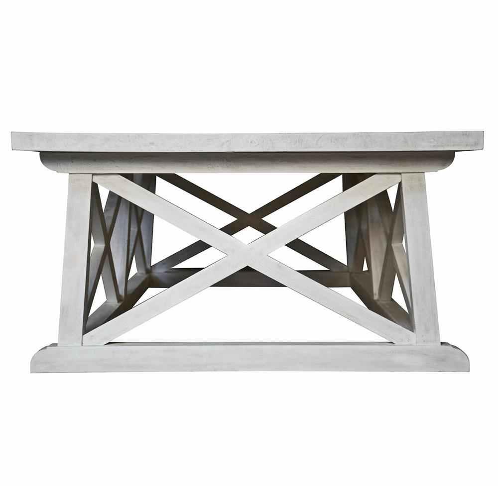 Luc coastal beach white wash coffee table kathy kuo home Whitewash coffee table
