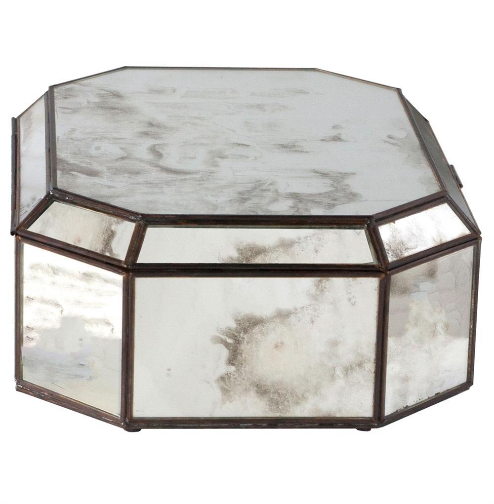 Bishop Hollywood Regency Octagonal Antique Mirror Box Kathy Kuo Home