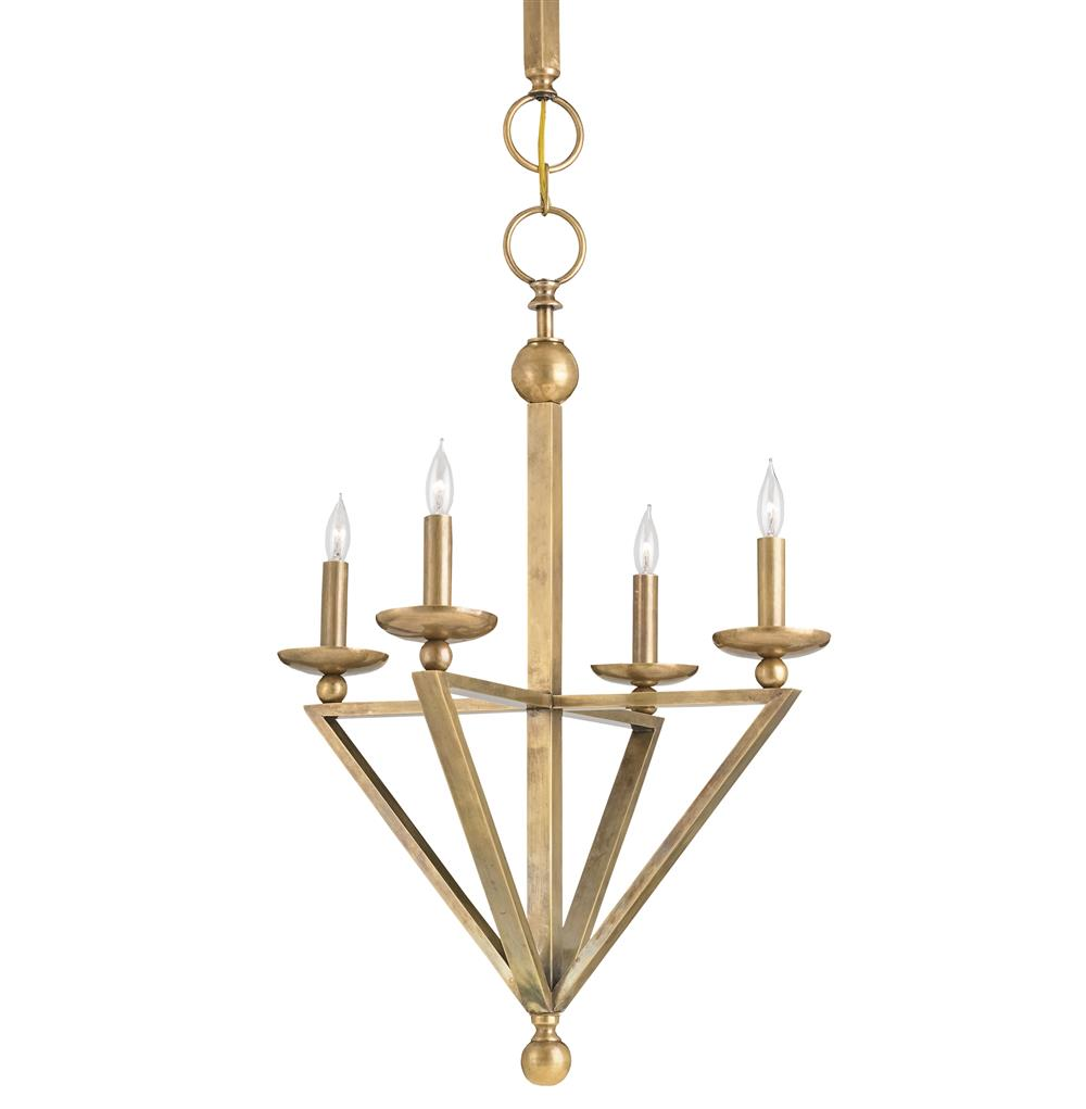 transitional classic antique brass large pendant