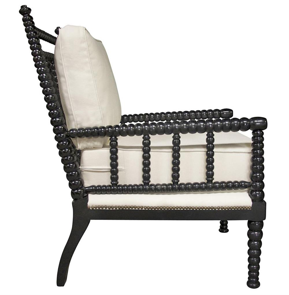 saville english style bobbin black living room chair kathy kuo home