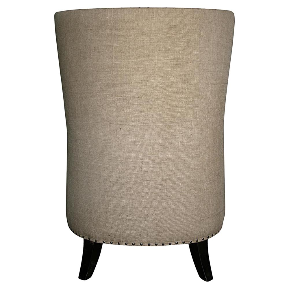 ... Sinclair French Country Burlap Nailhead Wing Back Accent Chair | Kathy  Kuo Home