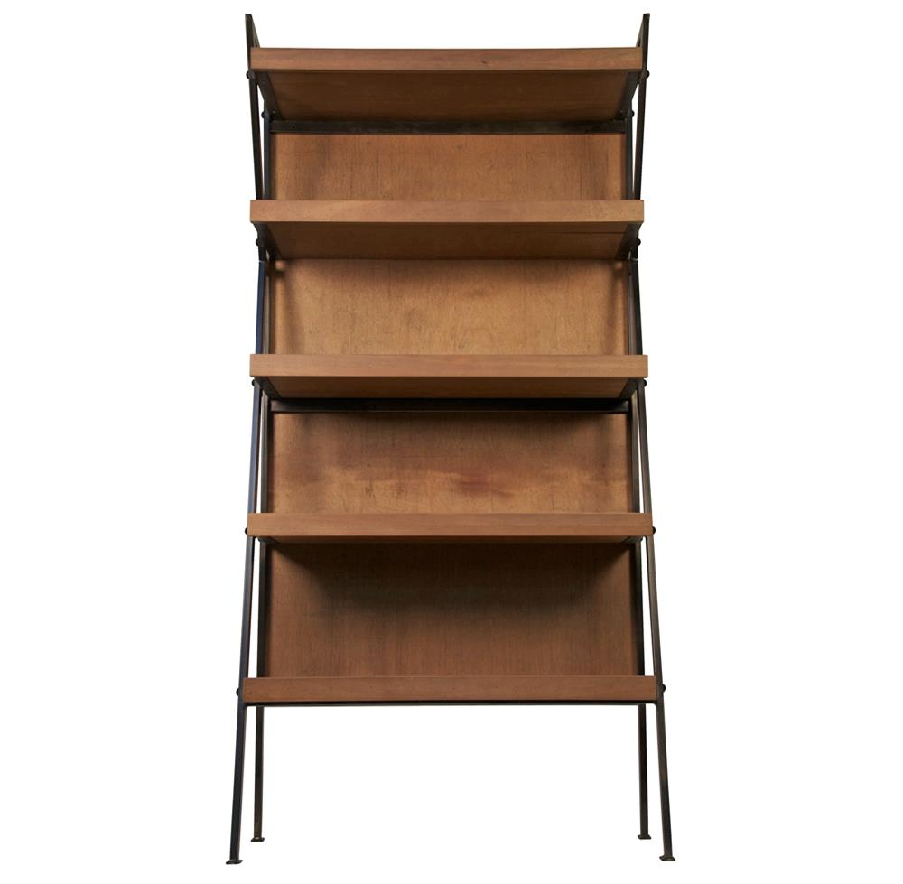 Brennan Industrial Loft Modern Wood Metal Bookcase  Kathy Kuo Home