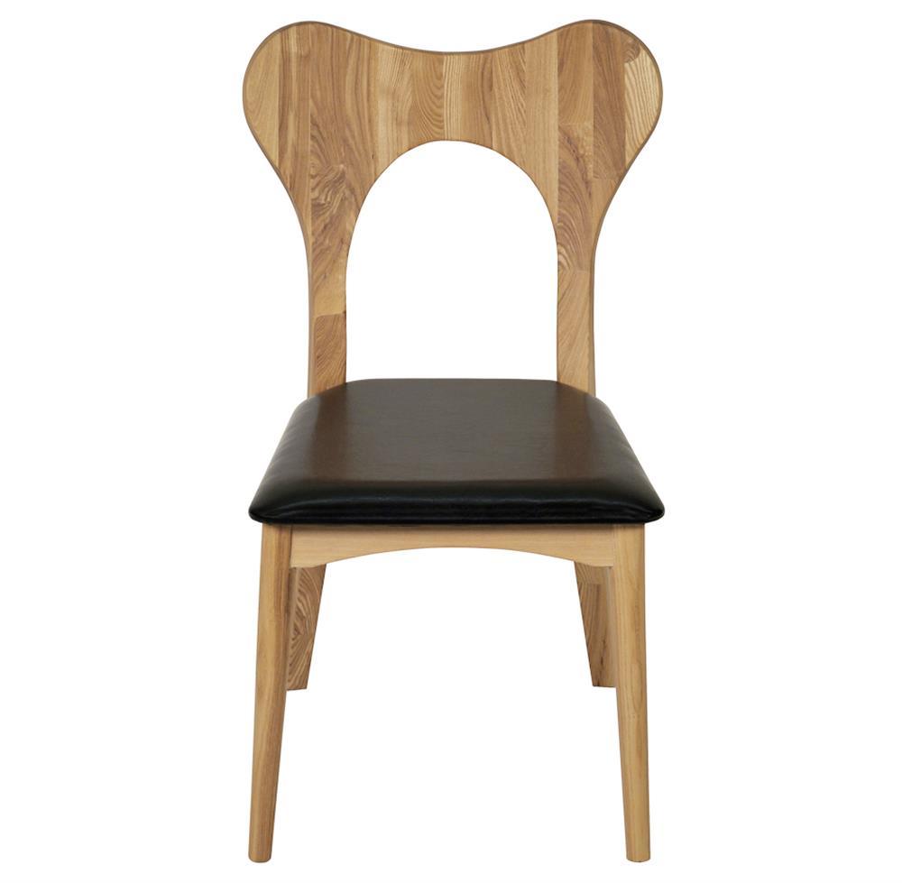 Taft Industrial Loft Modern Wood Leather Dining Chair