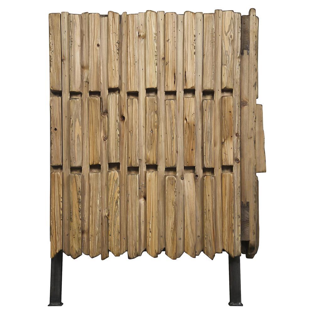 nadir global bazaar modern reclaimed wood metal sideboard. Black Bedroom Furniture Sets. Home Design Ideas