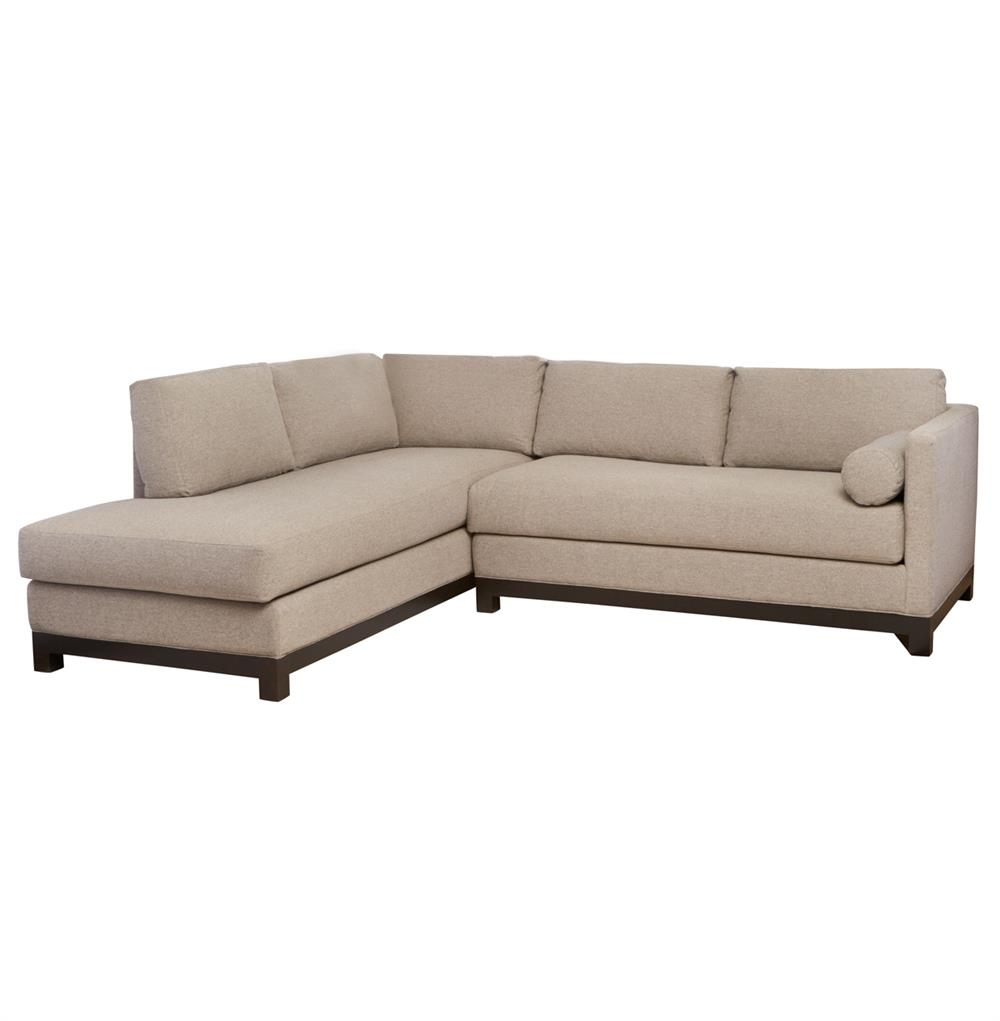 Cisco brothers cosmo modern natural linen sofa sectional for Modern sectional sofas