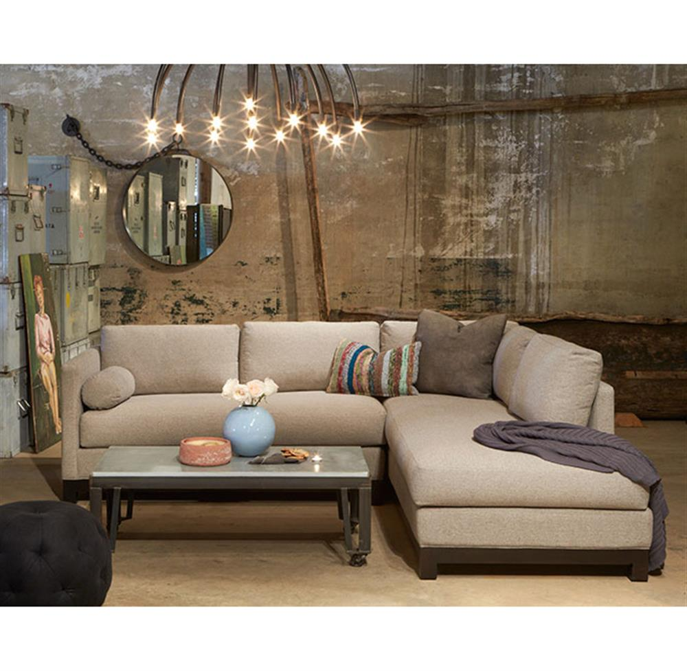 Perfect Cisco Brothers Cosmo Modern Natural Linen Sofa Sectional   Left Arm Facing    100x84 | Kathy Kuo Home