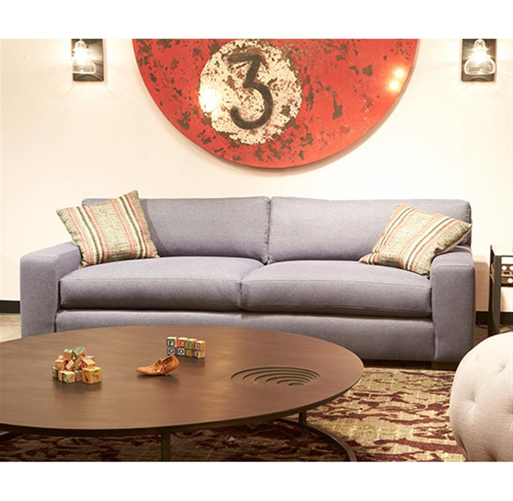 ... Cisco Brothers Loft Masculine Modern Classic Grey Steel Linen Feather  Down Sofa   84 Inch ...